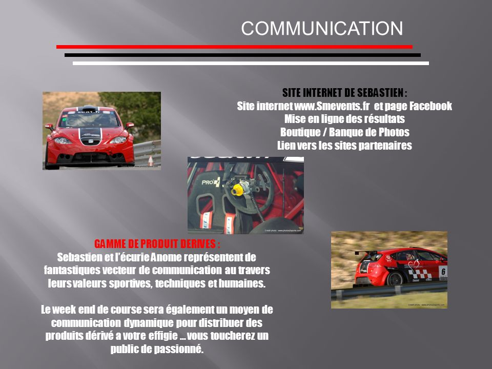 COMMUNICATION SITE INTERNET DE SEBASTIEN :