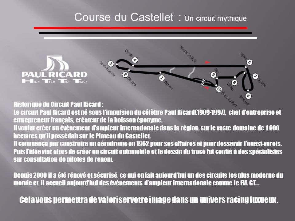 Course du Castellet : Un circuit mythique