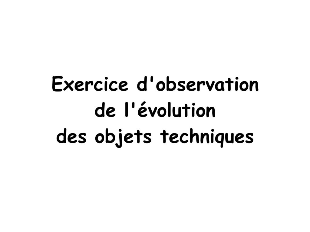 Exercice d observation