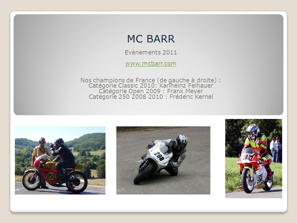 MC BARR Evènements 2011 www.mcbarr.com