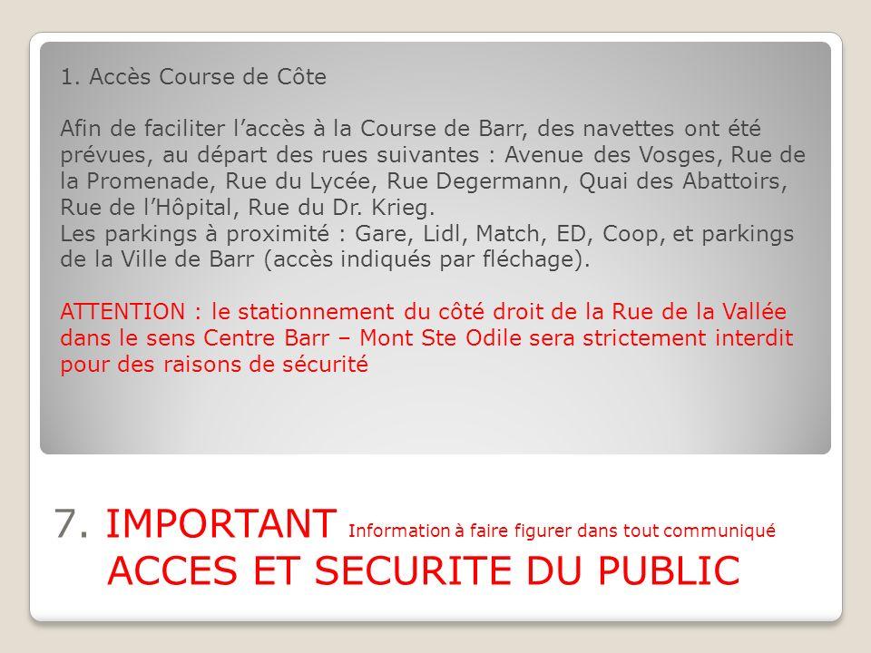 1. Accès Course de Côte