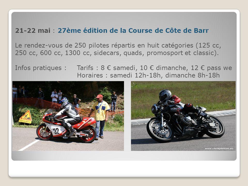 21-22 mai : 27ème édition de la Course de Côte de Barr