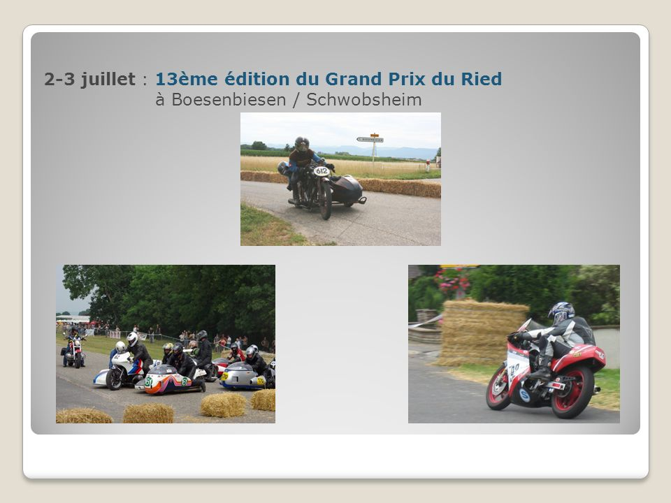 2-3 juillet : 13ème édition du Grand Prix du Ried