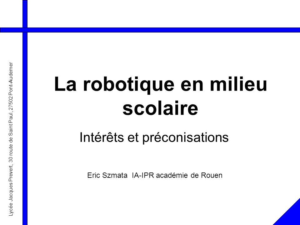 La robotique en milieu scolaire