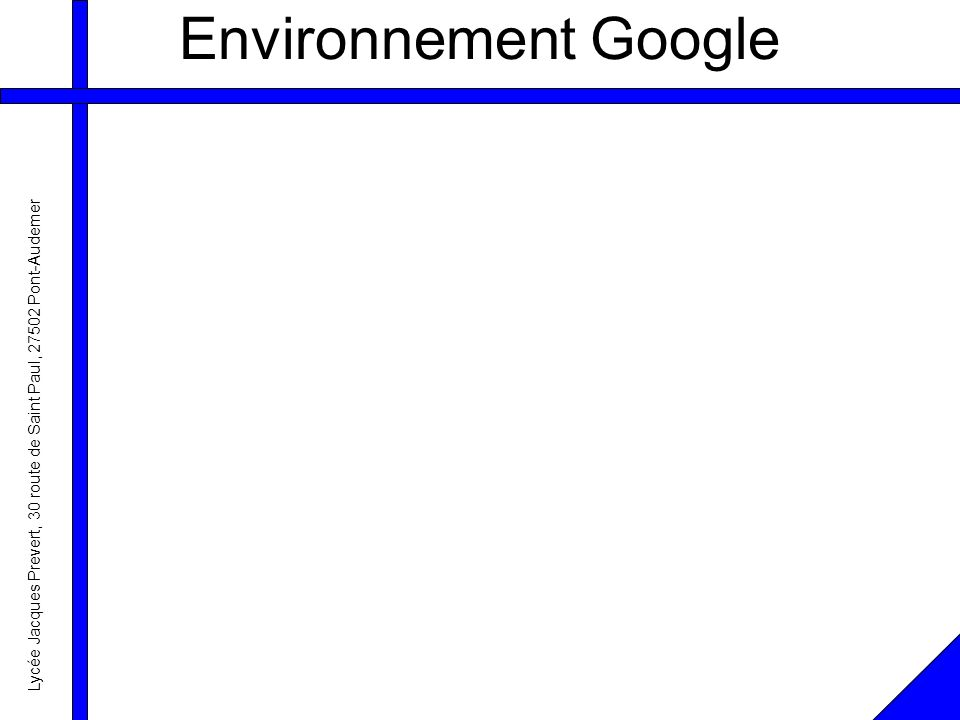 Environnement Google