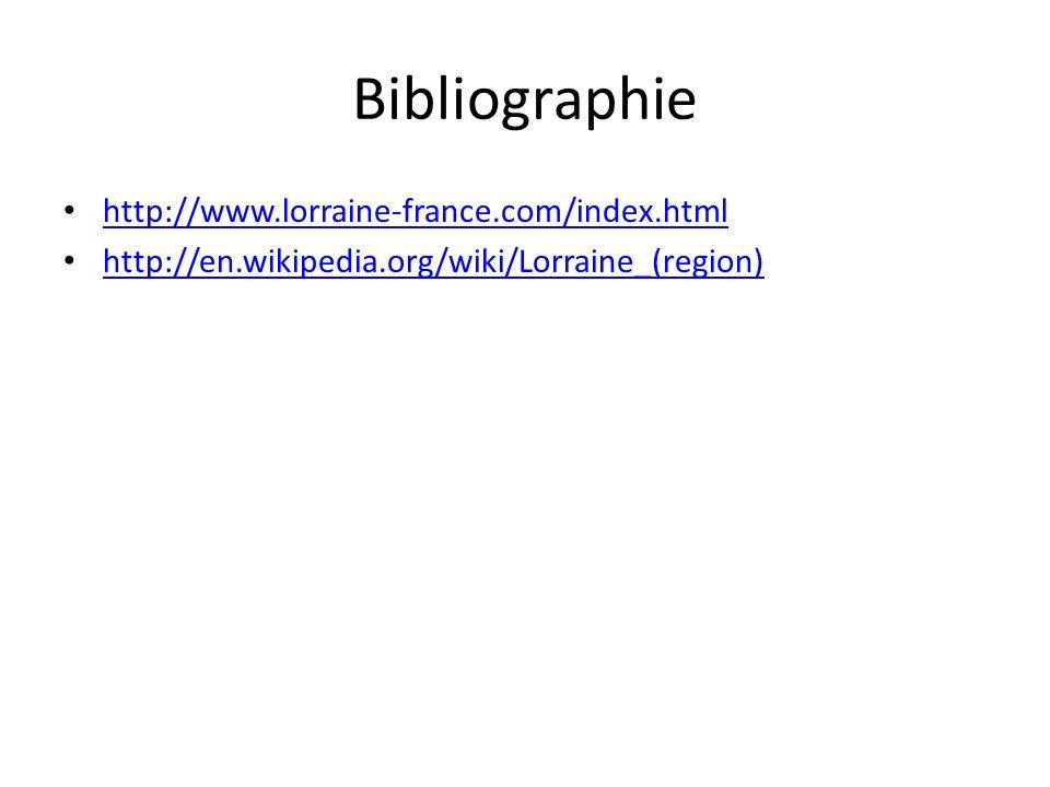 Bibliographie http://www.lorraine-france.com/index.html