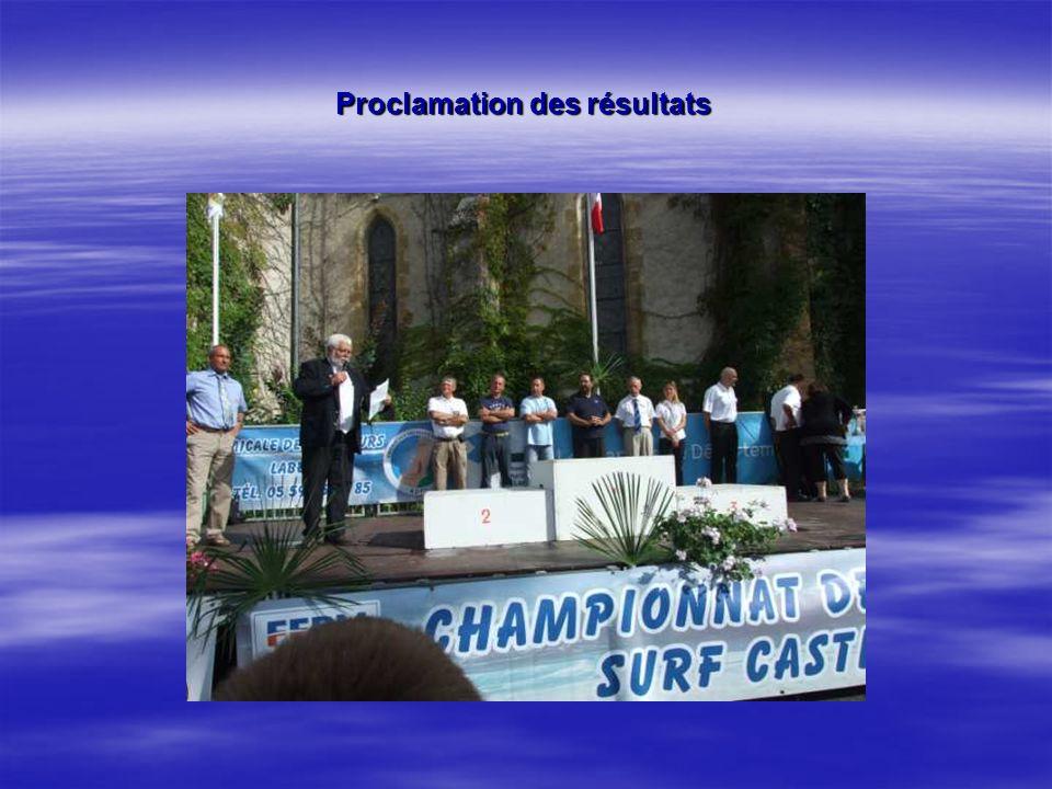 Proclamation des résultats