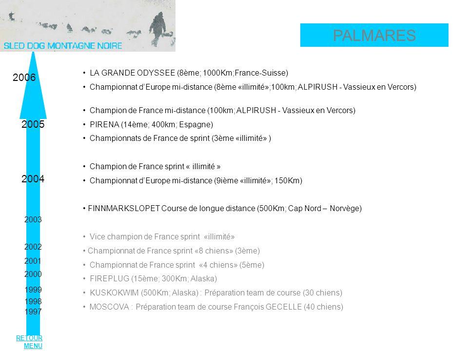 PALMARES 2006 2005 2004 LA GRANDE ODYSSEE (8ème; 1000Km;France-Suisse)