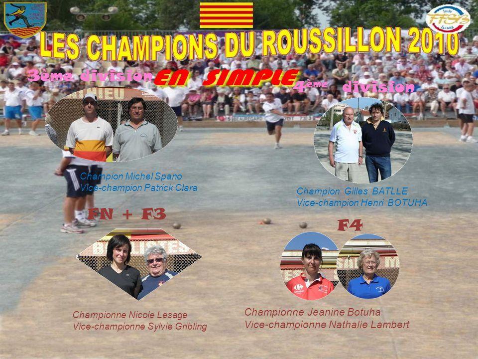 3ème division 4ème division FN + F3 F4