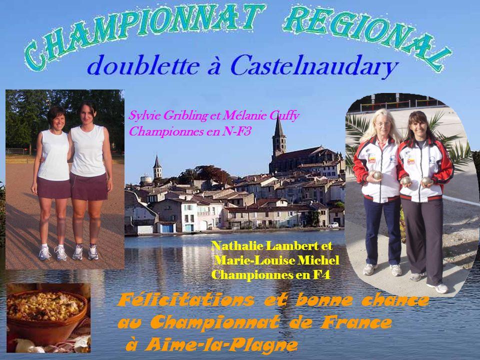 Félicitations et bonne chance au Championnat de France