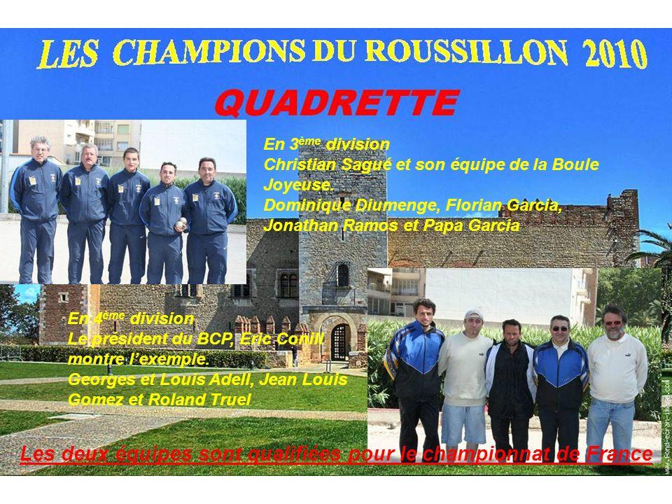 Les deux équipes sont qualifiées pour le championnat de France