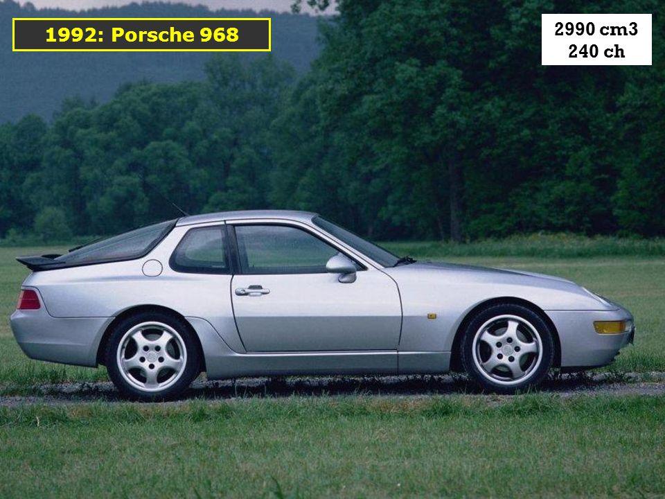 2990 cm3 240 ch 1992: Porsche 968