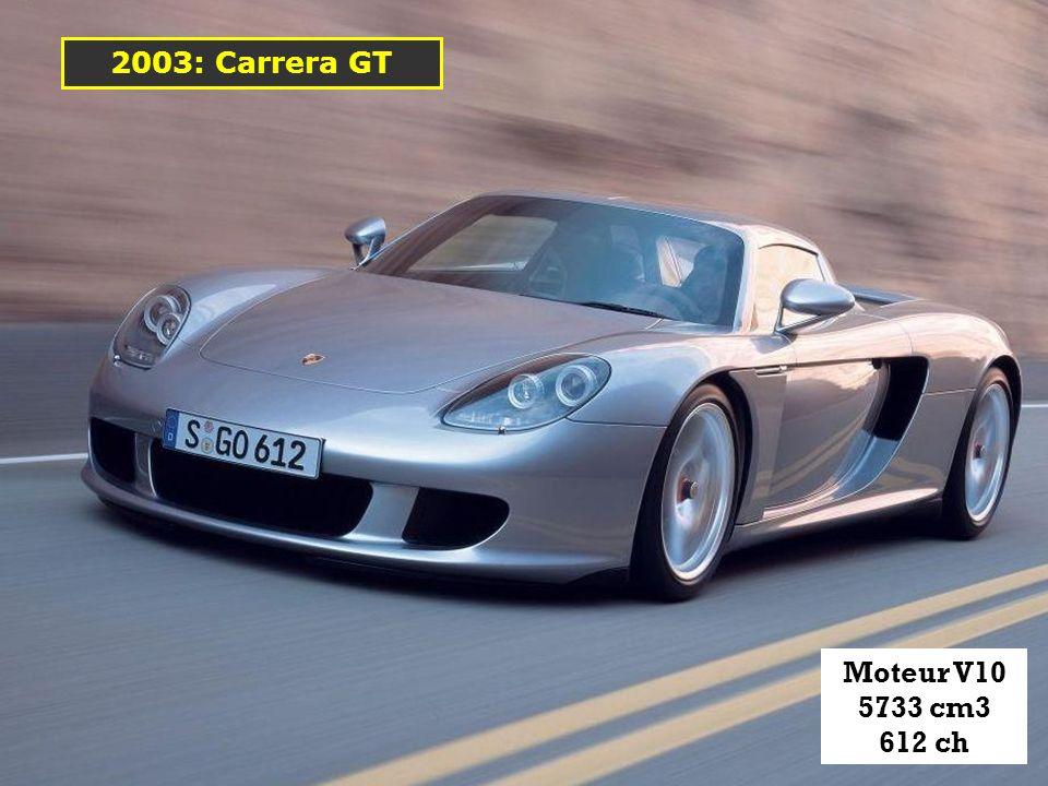 2003: Carrera GT Moteur V10 5733 cm3 612 ch