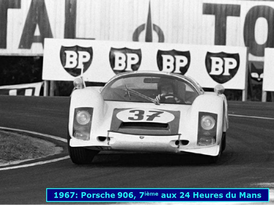 1967: Porsche 906, 7ième aux 24 Heures du Mans