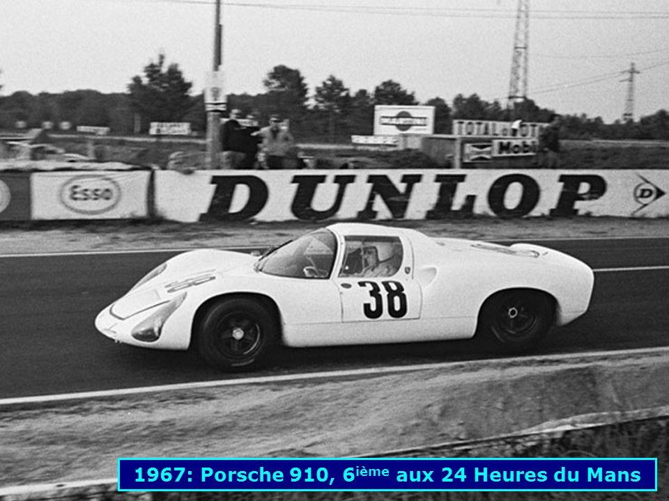 1967: Porsche 910, 6ième aux 24 Heures du Mans