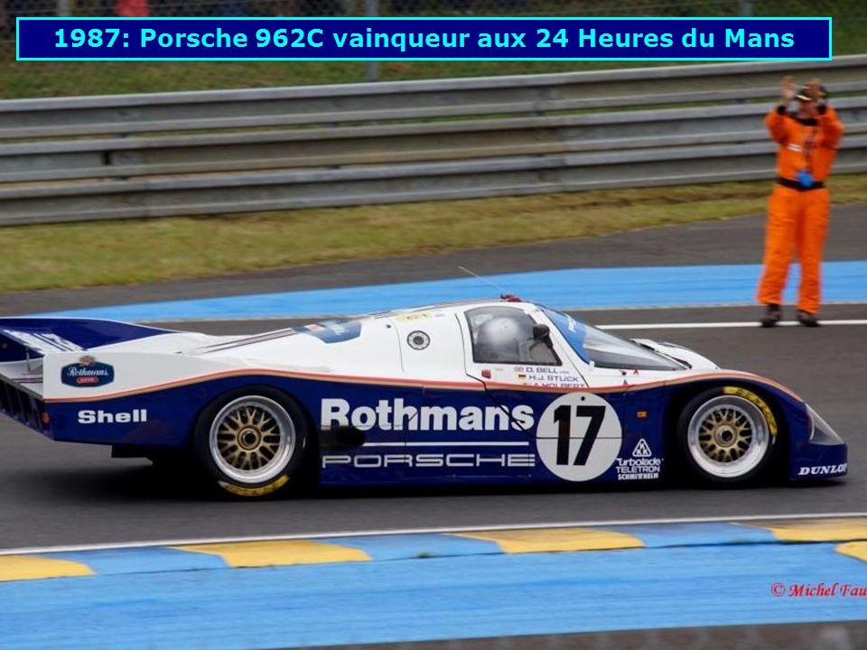 1987: Porsche 962C vainqueur aux 24 Heures du Mans