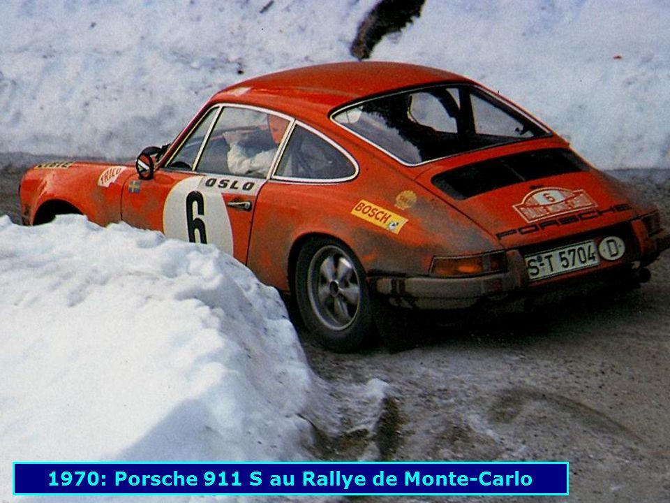 1970: Porsche 911 S au Rallye de Monte-Carlo
