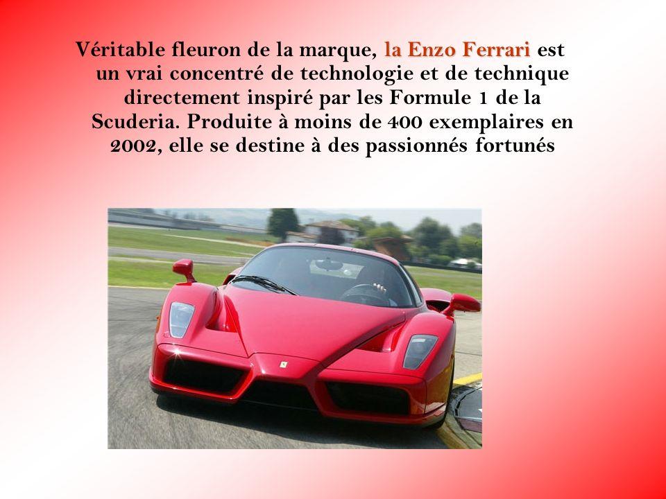 Véritable fleuron de la marque, la Enzo Ferrari est un vrai concentré de technologie et de technique directement inspiré par les Formule 1 de la Scuderia.