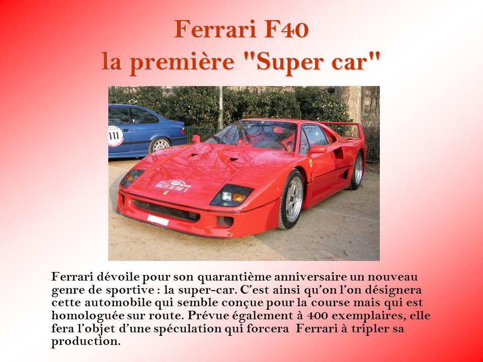Ferrari F40 la première Super car