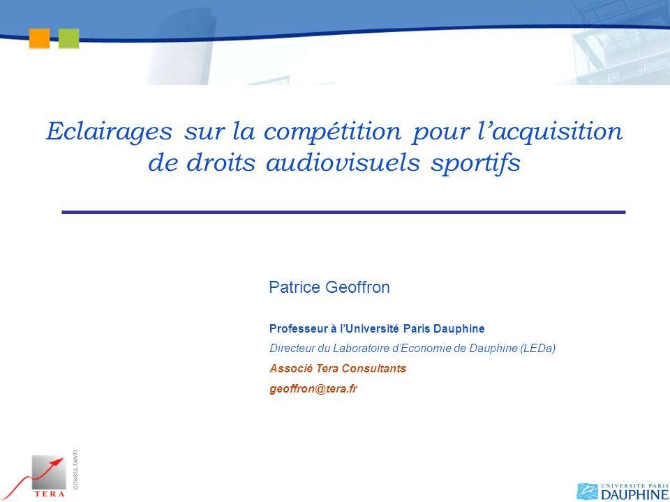 Eclairages sur la compétition pour l'acquisition de droits audiovisuels sportifs