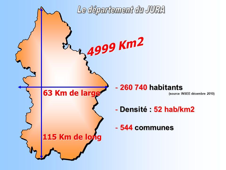 4999 Km2 260 740 habitants 63 Km de large - Densité : 52 hab/km2