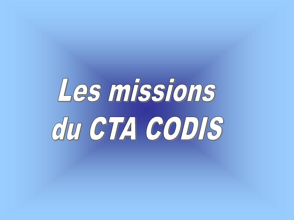Les missions du CTA CODIS