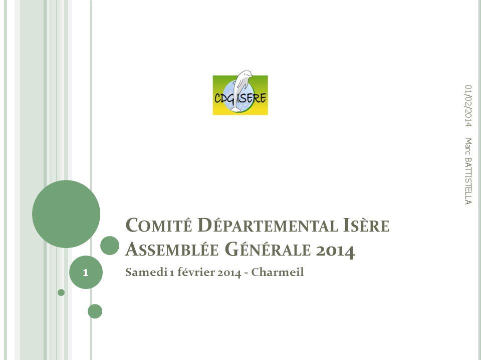 Comité Départemental Isère Assemblée Générale 2014