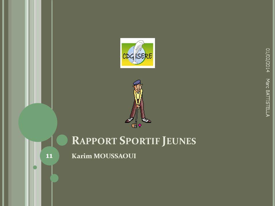 Rapport Sportif Jeunes