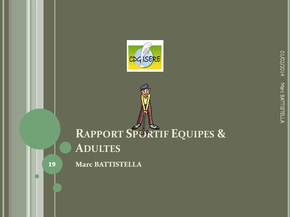 Rapport Sportif Equipes & Adultes