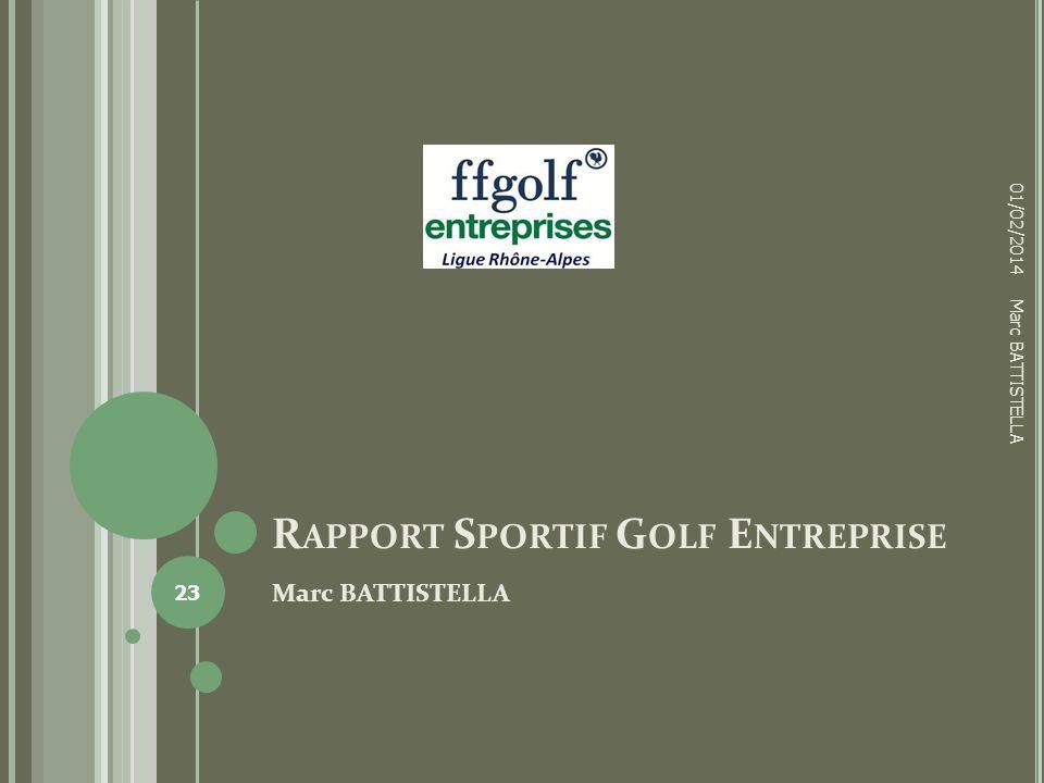 Rapport Sportif Golf Entreprise