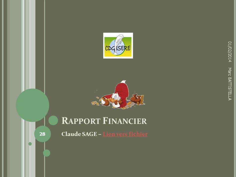 Rapport Financier Claude SAGE – Lien vers fichier 01/02/2014