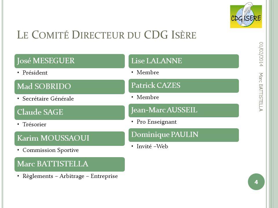 Le Comité Directeur du CDG Isère