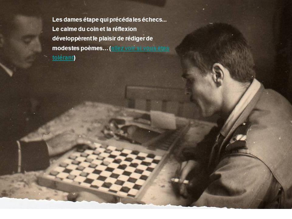 Les dames étape qui précéda les échecs