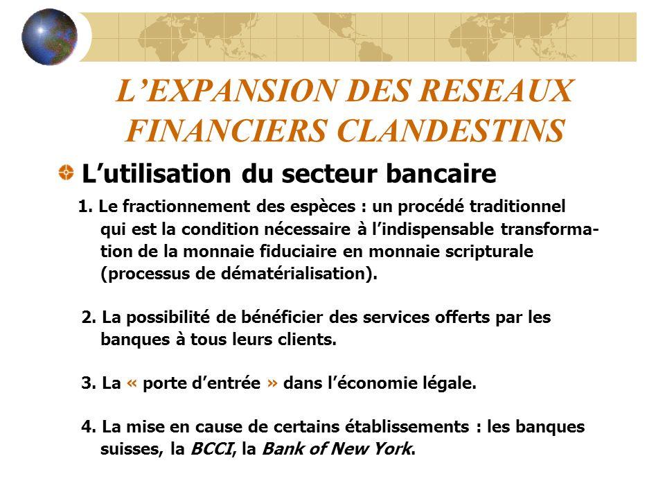 L'EXPANSION DES RESEAUX FINANCIERS CLANDESTINS