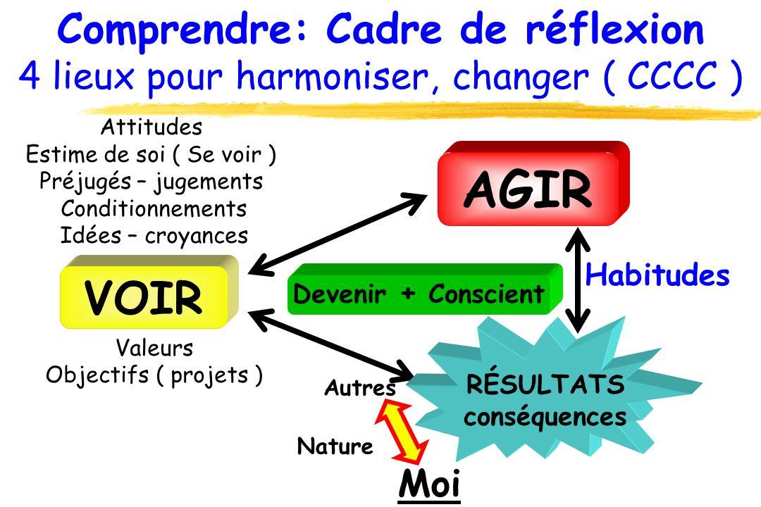 Comprendre: Cadre de réflexion 4 lieux pour harmoniser, changer ( CCCC )