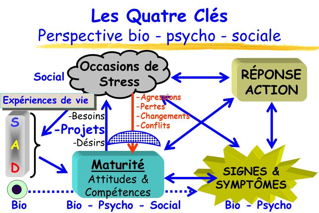 Les Quatre Clés Perspective bio - psycho - sociale