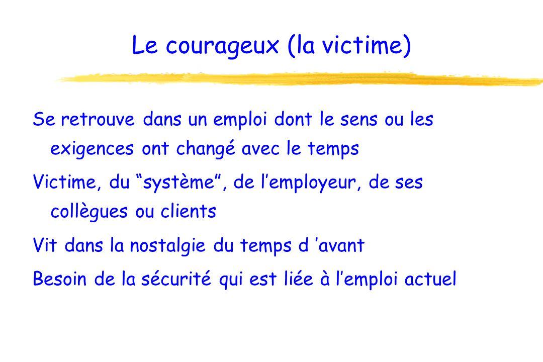 Le courageux (la victime)
