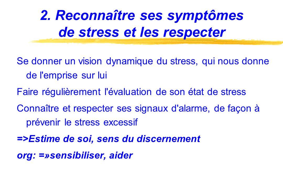 2. Reconnaître ses symptômes de stress et les respecter