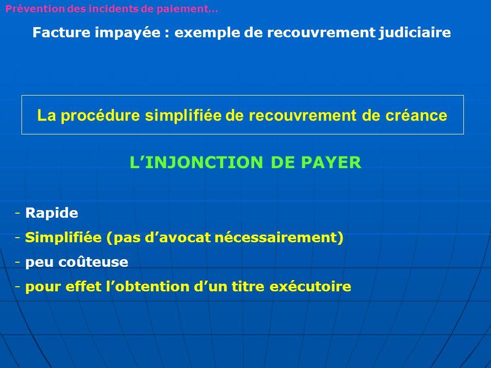 La procédure simplifiée de recouvrement de créance