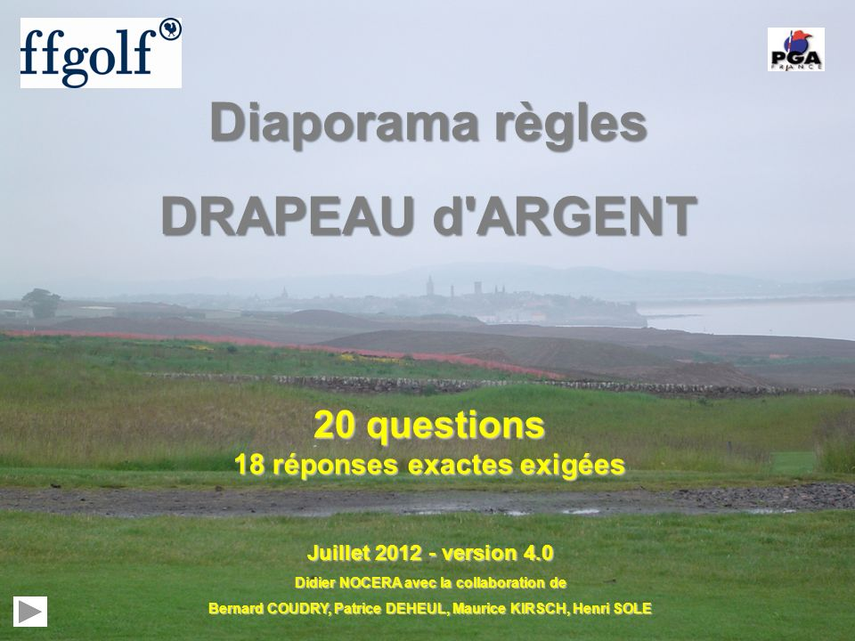 Diaporama règles DRAPEAU d ARGENT
