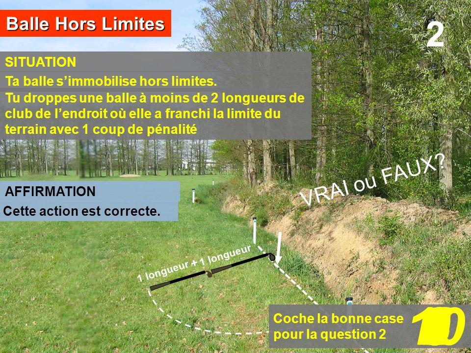 10 1 2 7 8 9 3 6 5 4 2 VRAI ou FAUX Balle Hors Limites SITUATION