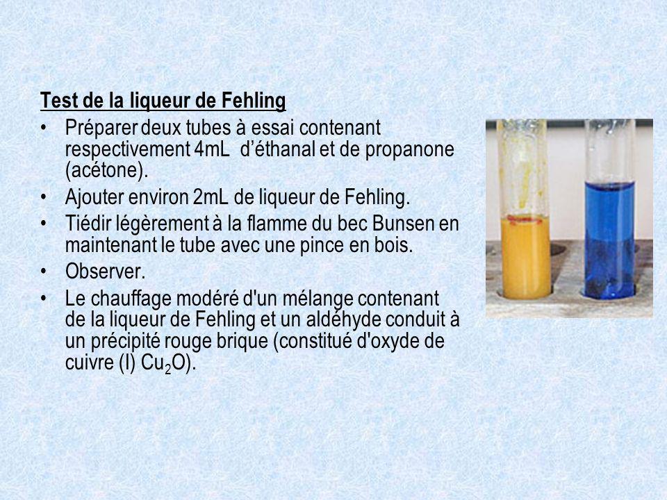 Test de la liqueur de Fehling