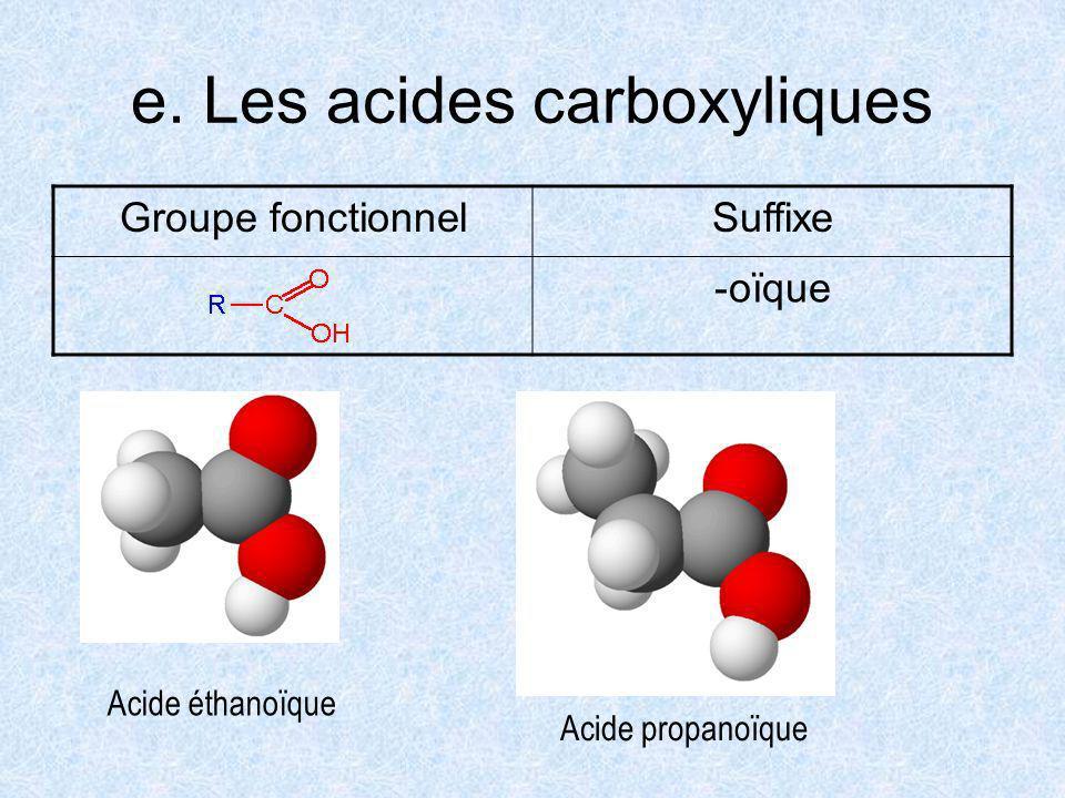 e. Les acides carboxyliques