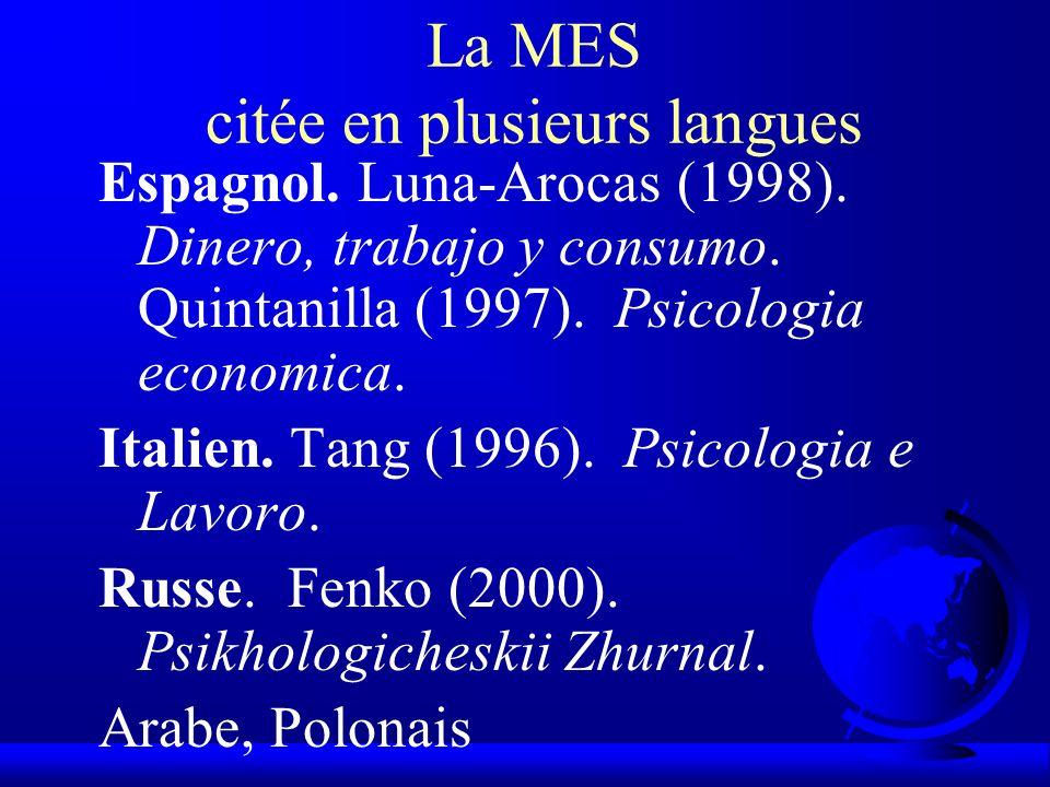La MES citée en plusieurs langues