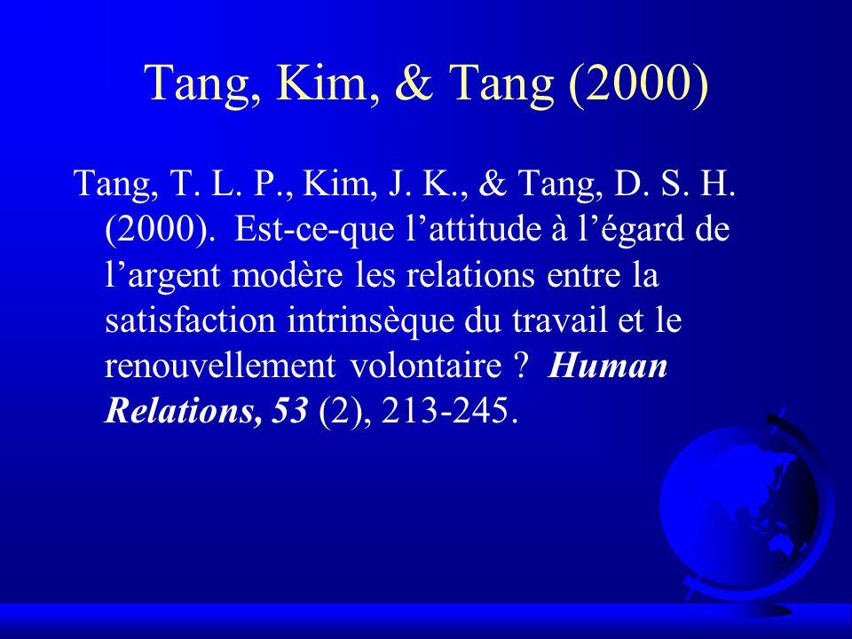 Tang, Kim, & Tang (2000)