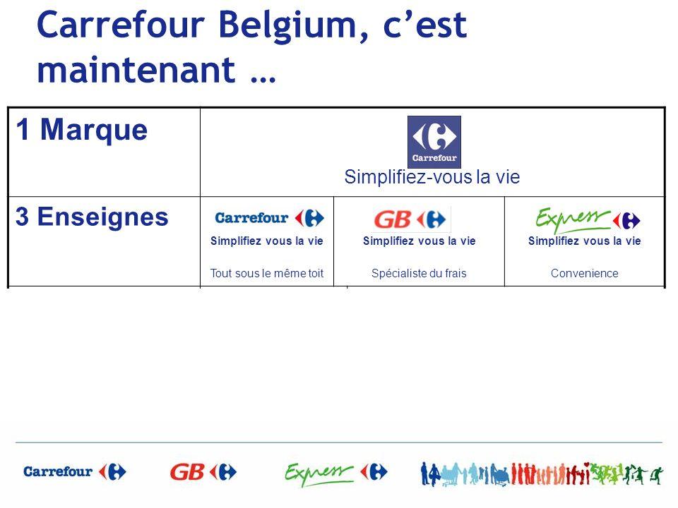 Carrefour Belgium, c'est maintenant …