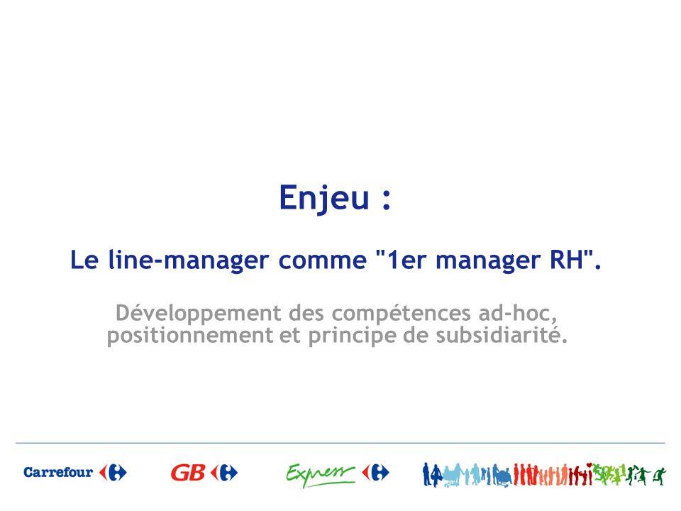 Enjeu : Le line-manager comme 1er manager RH