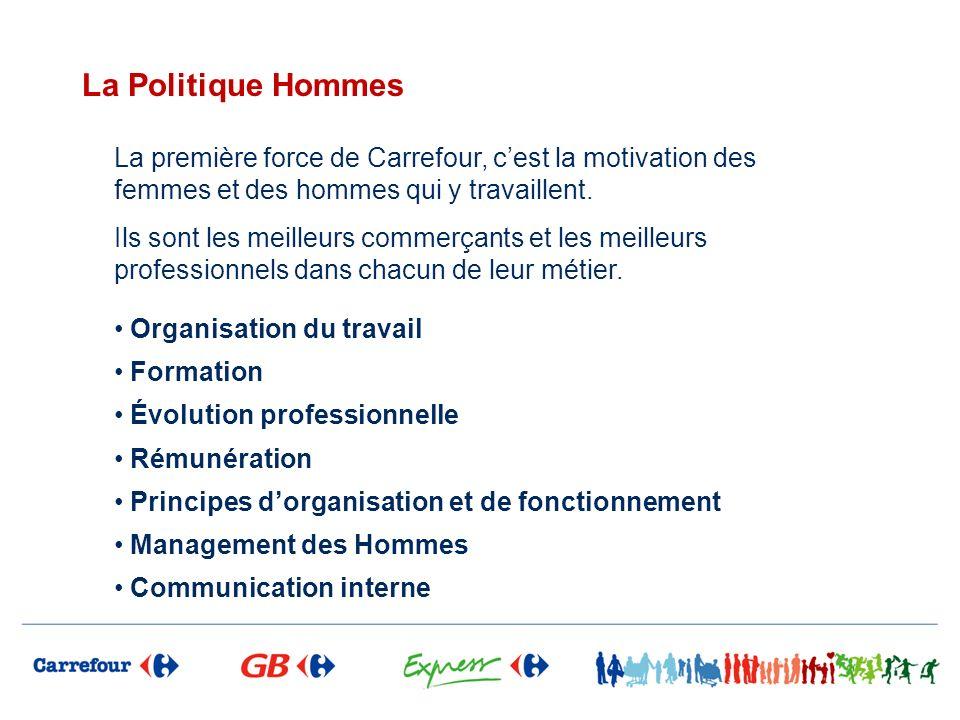La Politique Hommes La première force de Carrefour, c'est la motivation des femmes et des hommes qui y travaillent.