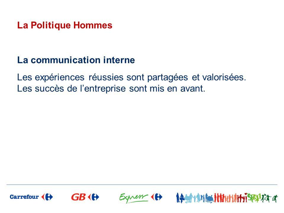 La Politique Hommes La communication interne.
