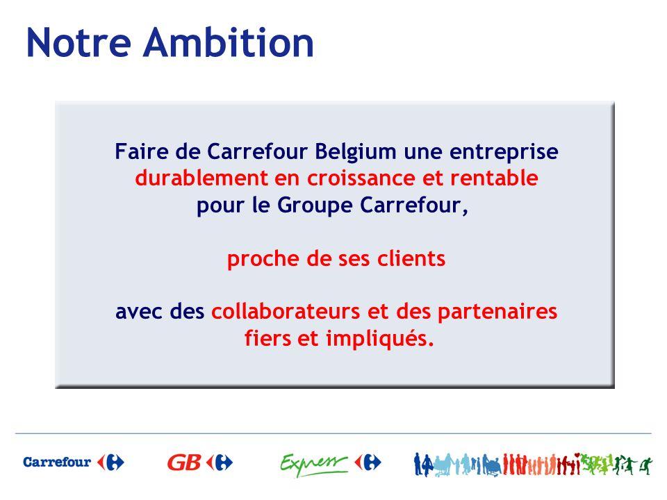 Notre Ambition Faire de Carrefour Belgium une entreprise